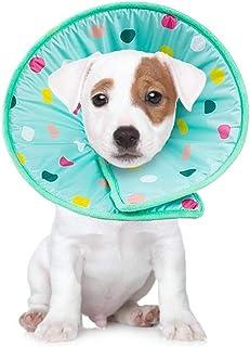 Z-PET Cono Collar De Perro Suave Cómodo Algodón Ajustable del Perro Casero Elizabeth Collares Recuperación Cono Animal Doméstico del Gato Protector E-Cuello (Size : S)