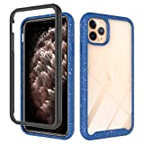 Clear Heavy Duty Case Compatible with iPhone 11 pro 5.8 inch Display Case with Transparent Hard PC Clear Back Cover + Soft Silicone Rubber Bumper, Anti-Scratch Shockproof Case - Frost White