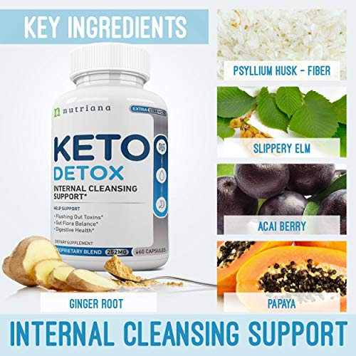 Best Keto Detox Cleanse Weight Loss Pills for Women and Men - Keto Colon Cleanser and Detox for Weight Loss - Ketogenic Diet Support to Boost Energy and Flush Toxins - 60 Count 2
