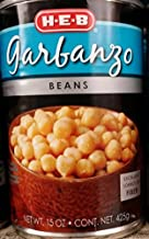 HEB Garbanzo Beans 15 Oz (Pack of 6)