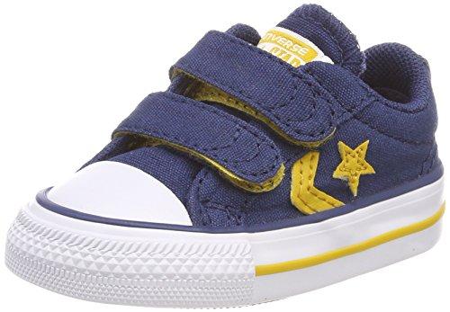 Converse Unisex Baby Star Player EV 2V OX Hausschuhe, Blau (Navy/Mineral Yellow/White 426), 20 EU