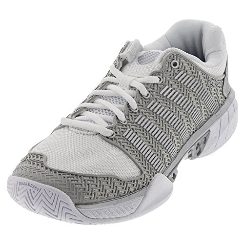 K-Swiss Women`s Hypercourt Express Tennis Shoes (8.5 White/Silver)