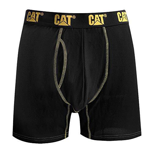 Caterpillar Store Men's Performance Boxer Brief, Black, Medium (32-34 in)