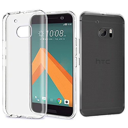 Tektide Case for HTC 10/HTC One M10, [Invisible Armor] Xtreme Clear Slim Soft Resilient Lightweight Rubber Bumper Case/Back Cover -Thinnest Case Ever.