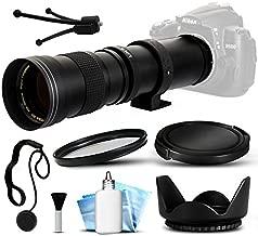 Opteka 420-800mm f/8.3 HD Telephoto Zoom Lens Bundle Package includes UV Ultra Violet Filter + Snap On Lens Cap + Tulip Hood + Cap Keeper + Lens Cleaning Kit for Sony Alpha A100, A200, A230, A290, A300, A330, A350, A380, A390, A450, A500, A550, A560, A580, A700, A850, A900, SLT-A33, SLT-A35, SLT-A37, SLT-A55, SLT-A57, SLT-A58, SLT-A65, SLT-A77, SLT-A77 II, SLT-A99 DSLR SLR Digital Camera