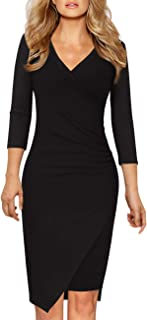 Best wrap dress black Reviews