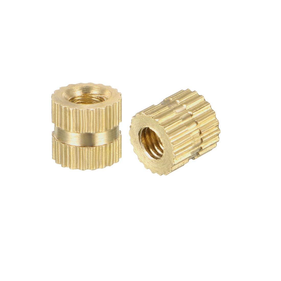 Embedment Nuts binifiMux 100pcs M4 Female Brass Thread Insertd Knurled Nuts Assortment Kit m4