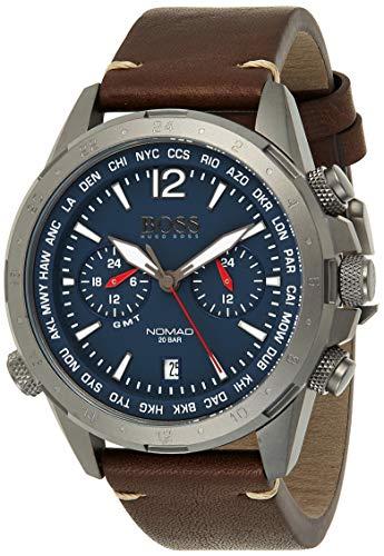 Hugo Boss Reloj para Hombre de Cuarzo con Correa en Cuero 1513773