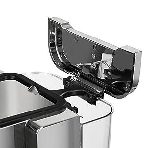 Klarstein Passionata 15 Espressomaschine Espresso-Automat Kaffee-Maschine 1470 Watt 1,25 Liter automatischer Druckablass inkl. Milchschaum Düse für Zubereitung von Cappuccino, Silber