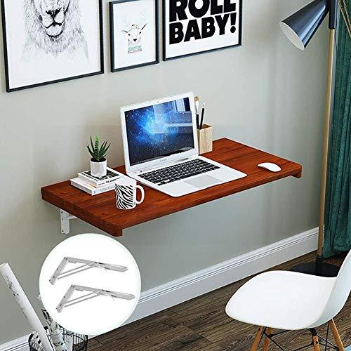 Computerbureau voor wandmontage, inklapbare wandtafel van massief hout met plank 70 cm 80 cm 90 cm 100 cm 120 cm lang (grootte: 100 & times; 50 cm) 120 × 40 cm.