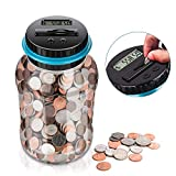 Digital Coin Bank,Amago Piggy Bank,Big Piggy Bank Digital Counting Coin Bank for Kids Adults Boys Girls as Gift on...