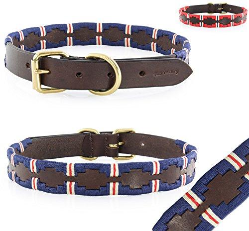 Pear - Tannery Polo Line: Hundehalsband Aus Weichem Vollrindleder, XXXS 19-29cm, Blau