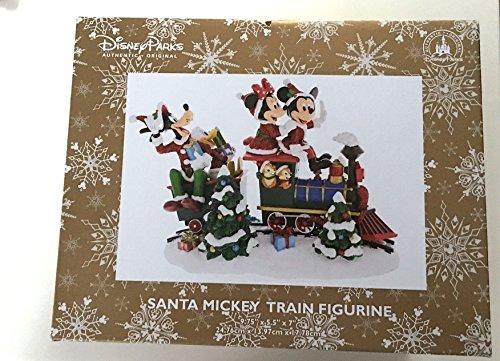 Parques de Disney Mickey Mouse de Papá Noel tren figura decorativa