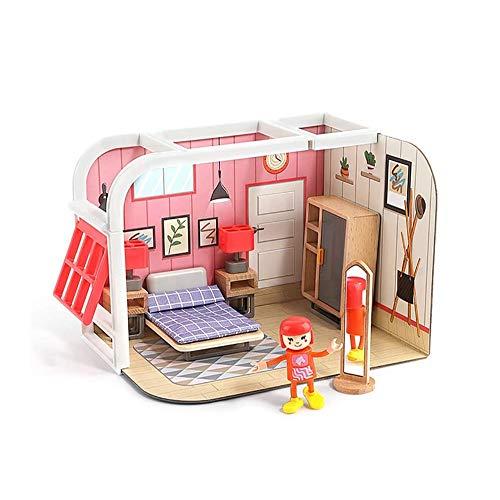 SYXX Jouets éducatifs for Enfants, 4-6 Ans Petite Fille Princess House Game House, Anniversaire for Enfants Cadeaux, Jouets Maison Toy Fille, éducation Creative Enfants Cadeau