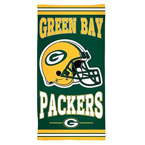 WinCraft NFL Green Bay Packers Fiber Beach Towel, 30' x 60'