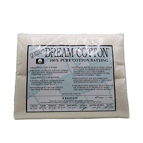Quilter's Dream Request Light Batting for Quilting (All Sizes) (Natural, Queen)