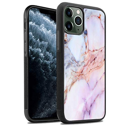 Marble iPhone 11 Pro Max Case,Design for Women and Men,Slim Shockproof Flexible Black TPU+PC Anti-Scratch and No-Slip Protective Silicone Cover Case for iPhone 11 Pro Max