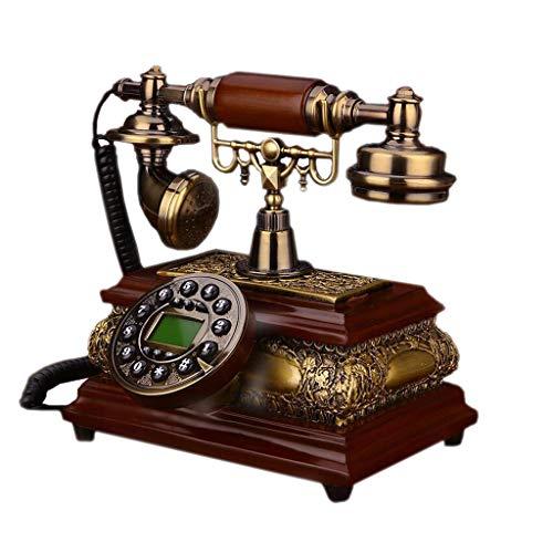 Telefono retro Clásico Resina Metal Botón Dial Jardín Moda Asiento Creativo Oficina Europea 20 cm * 23 cm * 25 cm MUMUJIN