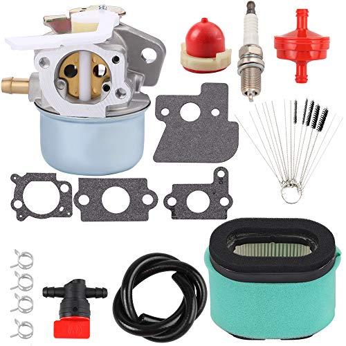 Kizut 698055 Carburetor with 690610 Air Filter Cleaner Tool Kit for 694203 690152 121602 121607 121612 122602 122612 128612 Lawnmower Generator Engine