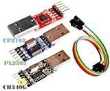 3pcs USB to TTL Module 1pc PL2303 + 1pc CP2102 + 1pc CH340G USB UART Module | Adaptador Serie USB a TTL módulo: 1pc con chipset CP2102 + 1pc con chipset PL2303 + 1pc con chipset CH340G