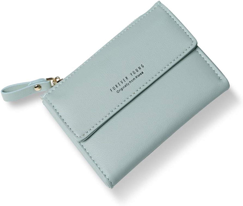 DASHJGGL Damengeldbörse Wallet damen Fashion Mini Wallet Ladies Short Coin Purse Clutch Luxury Coin Zipper Wallet B07JW1ZS57
