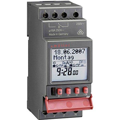Müller SC 28.21 pro Hutschienen-Zeitschaltuhr digital 12 V/DC, 12 V/AC 16 A/250V