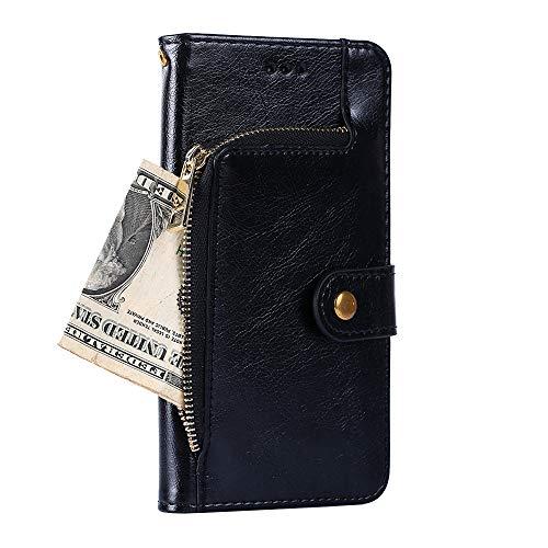 BellaHülle Oppo A72 Handyhülle Hülle Flip Hülle [Kartenfach] [Standfunktion] [PU Leder] Wallet Cover für Oppo A72 Smartphone(Schwarz)