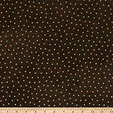 Maywood Studio 0677620 Woolies Flannel Polka Dots Espresso