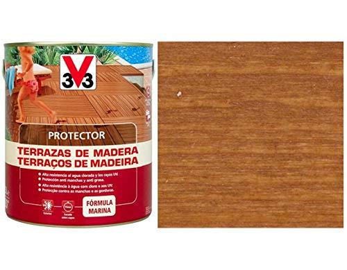 PROTECTOR TERRAZA MADERA V33 TECA: Amazon.es: Jardín