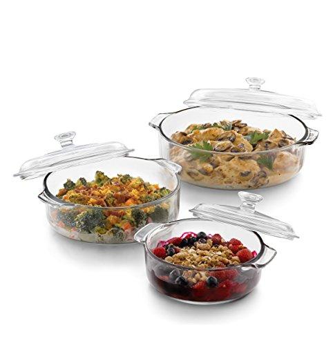 3 piece round casserole dish