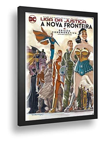 Quadro Decorativo Poste Liga Da Justiça Nova Fronteira Retro