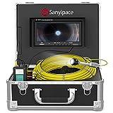 Kanalkamera Rohrkamera 30M mit DVR, 9' Bildschirm Endoskop Inspektionskamera HD für Abflussrohr Inspektion IP68 Wasserdichtes Professionelle Endoskopkamera mit Licht Videoinspektion Rohrdetektor