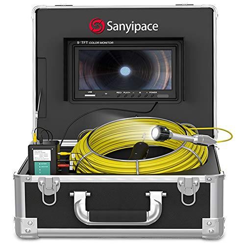 """Rohrkamera 20M mit 9\"""" Bildschirm, Rohr-inspektionskamera DVR Endoskop Kanalkamera mit Licht Wasserdicht IP68 Professionelle Schlauchkamera für Abfluss Video Inspektion mit 1000TVL CCD Detektor Kamera"""