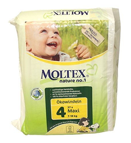 Nature No1 Eco Nappies Maxi Size 4 - Pack of 37 by Moltex