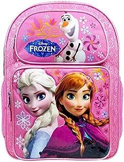 "Disney Frozen Elsa & Anna 16"" Large Bakcpack #FCCFK1"