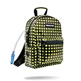 Vibedration Mini Hydration Pack Backpack| 1 Liter Water Capacity | Cute Bag for Women, Girls, Boys, Hiking, Festivals, Raves (Plaid Out)