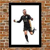 Gerahmtes Poster Leicester City – Kasper Schmeichel
