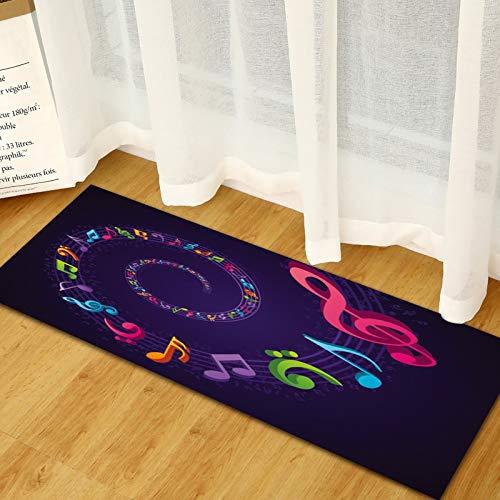 Alfombrilla de puerta con impresión 3D simple, alfombrilla de cocina, alfombra de tira larga para puerta de entrada para dormitorio, decoración del suelo, alfombra para sala de estar A13 50x160cm