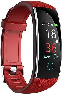 wetwgvsa Pulsera Actividad Pulsera Inteligente de Deportiva Impermeable Presión Arterial IP67 Monitor de Dormir, Calorías, Ritmo Cardiáco Podómetro Notificación de Mensaje para Android e iOS
