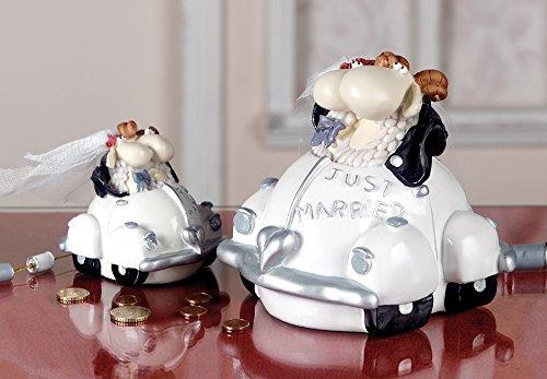 Spardose Just Married Schafe