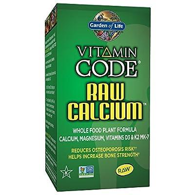 Garden of Life Raw Calcium Supplement - Vitamin Code Whole Food Calcium Vitamin for Bone Health