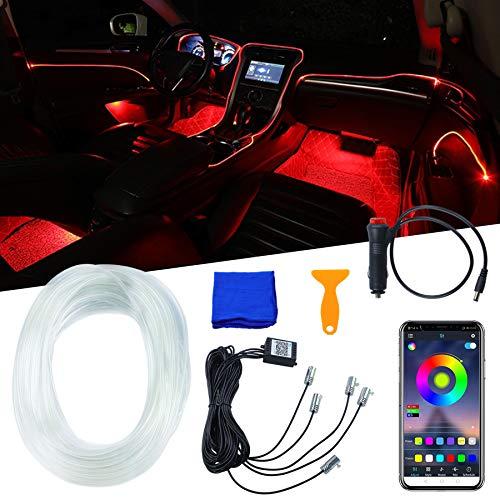 Neonleuchtleisten für Das Auto,5-teiliges Set,Auto-Atmosphäre Umgebungsbeleuchtung Kit,Auto Innenbeleuchtung LED mit APP ,Zur Autodekoration, Stimmungslicht,Innenraumbeleuchtung(1 Set)