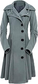 Womenss Fashion Long Sleeve Asymmetrical Personality Collar Trench Coats Outwear Tops