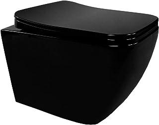CUBE - WC suspendu design NOIR avec abattant frein de chute