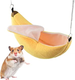 iSmarten Banana Hamster Bed House Hammock Small Animal Warm Bed House Cage Nest Hamster Accessories for Sugar Glider Hamster Small Bird Pet