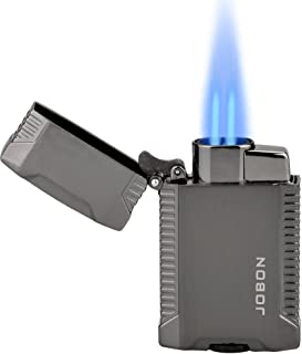 TOPKAY Torch Lighter, Butane Lighter, Windproof Double Jet Flame Torch Lighter, Refillable Gas Lighter, Cool Pocket Lighter