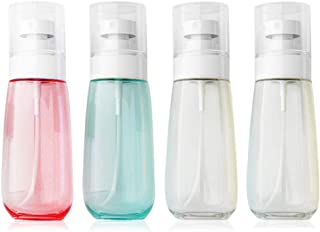 Spray Bottles Travel Size, AMMAX 4pcs Fine Mist Spray Bottle Set, Empty Airless Makeup Face Spray Bottle Clear Refillable Travel Containers For Cosmetic Skincare Perfume (3 fl. Oz) (Colorful)