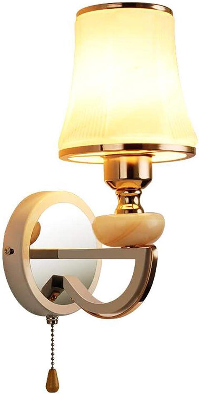CFWLT LED Wandleuchte, Nachttischlampe Verchromung Prozess für Schlafzimmer Korridor Wand Dekoration Lampe 13cm  32cm