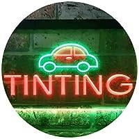 Car Tinting Illuminated Dual Color LED看板 ネオンプレート サイン 標識 緑色 + 赤色 400 x 300mm st6s43-i0464-gr