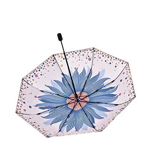 DZNOY Sombrillas Plegables Personalidad Sombrilla Paraguas Anti-Ultraviolet Sun Umbrella Sun Protection Pegamento Pequeño Paraguas Lluvia Y Sunshine Dual Propósito sombrilla (Color : Pink)